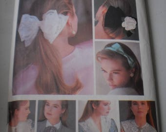Butterick 5754 12 collar cuffs and bow