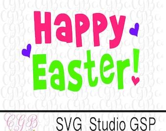 Happy Easter SVG, Easter cut file