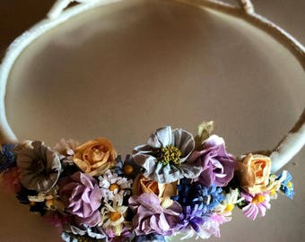 Velvet Tiara with tiny flowers