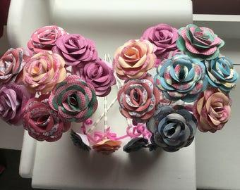 20 handmade paper flowers
