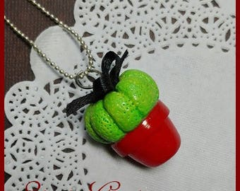 Black Cactus necklace with bow