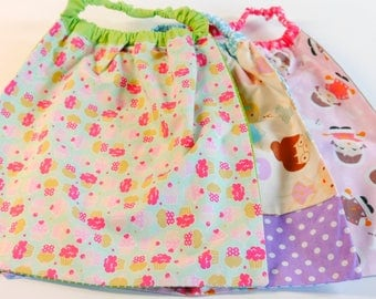 set of 3 towels in elasticated girl