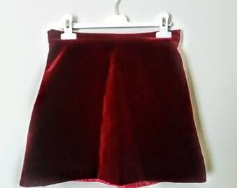 2018 Velvet Miniskirt