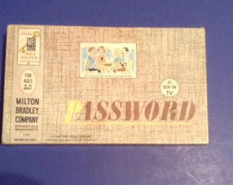 Vintage 1962 Milton Bradley Password Game Complete