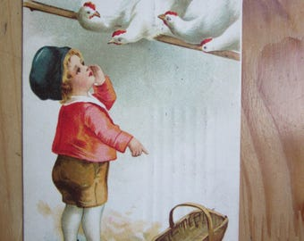 Happy EASTER  Greeting  Postcard -   Give me Your EGGS :)   1920ies