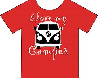 I Love My Camper T-shirt
