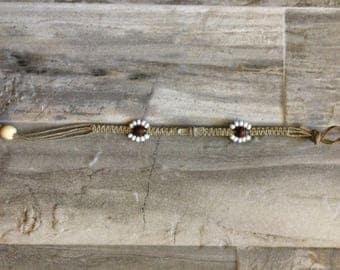 Hemp Crystal Center Bracelet/Anklet