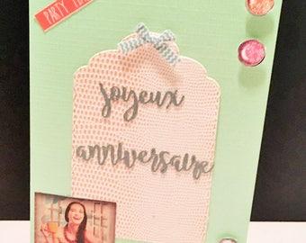 Birthday tag cards