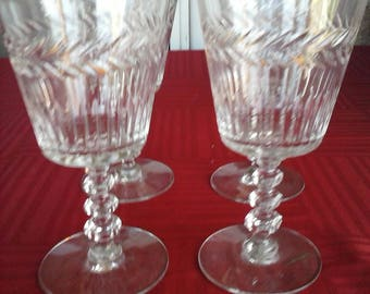 Vintage Tiffin Franciscan Athlone #17301 Water Goblets Set of 4