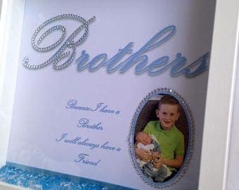 Personalised Brother Box Frame, Brother gift