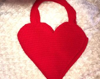 Crochet Heart Shoulder Bag