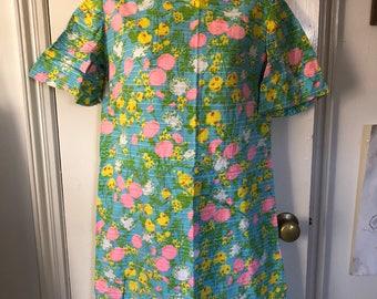 Vintage Psychedelic Mini Dress