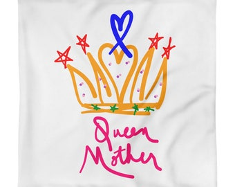 Queen Mother Love Connection Mother's Day Two Sides Square Pillow Case only