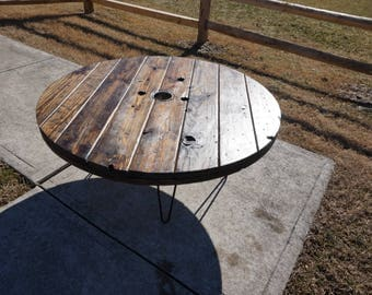 Wire Spool Coffee Table