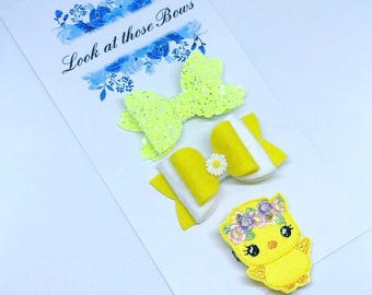 Easter Chick Set Of Bows