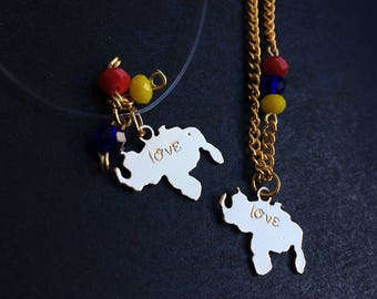Necklace  Map of Venezuela