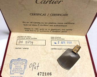 Authentic Cartier santos charm necklace top with certificate