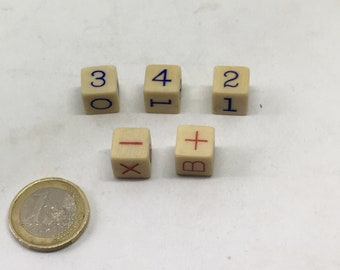french celluloid math dice