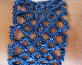 Blue Tatted Bracelet