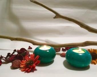 Elegant Marble Candle Holder Set