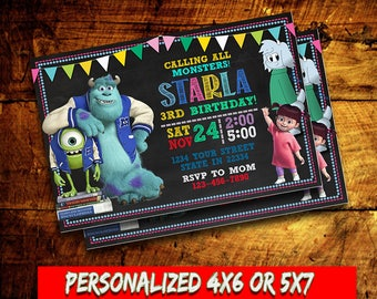 Monsters Inc,Monsters Inc Invitation,Monsters Inc Birthday party,Monsters Inc Printable,Monsters Inc Card,Birthday Invitation,Monsters Inc