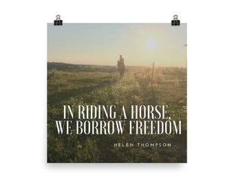 """Horse Print - """"In Riding a horse"""" - Horse Photography - Horse Art - Equestrian - Gift for Horse Lover"""