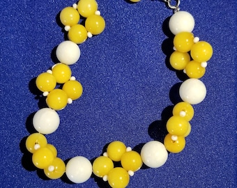White and yellow stone bracelet