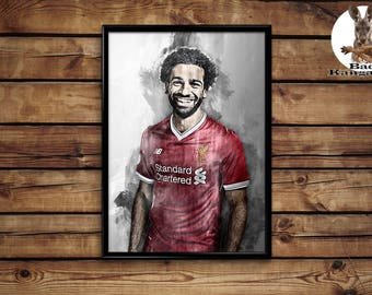 Mohamed Salah print wall art home decor poster