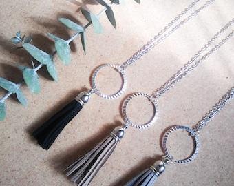 Silver Tassel Necklace