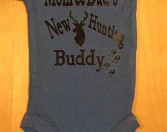 """Newborn """"New Hunting Buddy"""" Onesie"""