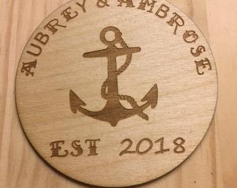 Custom Made Wood Drink Coasters