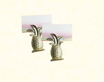 Gold Pineapple Table Place Card Holder
