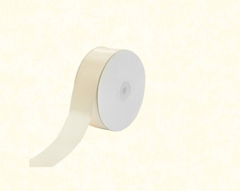 "25 Yards: 1.5"" Ivory Satin Ribbon"