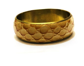 "Tiger print 2-8 "" broad western bangle"