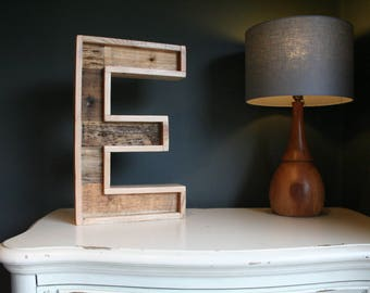 Reclaimed and Pallet wood letter