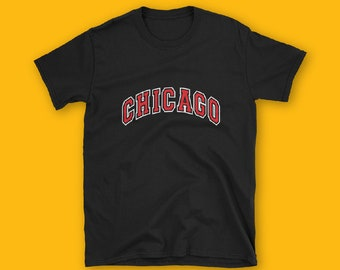 Chicago Short-Sleeve Unisex T-Shirt, City Tshirt, CHICAGO tshirt, Fashion, unisex, couple tshirt