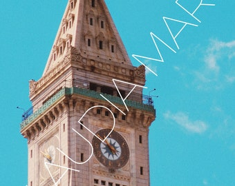 Boston Clock Tower, Instant Download