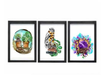 Set of 3 Harry Potter inspired a4 prints