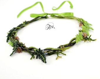 wianek - nature necklace with fern
