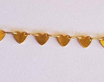 14kt heart bracelet