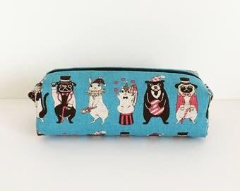 Long box pouch -animal circus