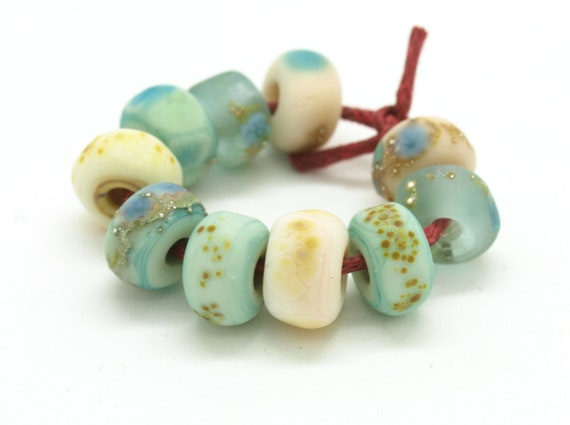 Tiny Beach Style Nugget Bead Set.