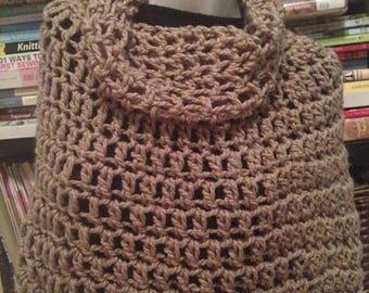 SALE Taupe Chunky Crochet Bennington Capelet Cowl Poncho