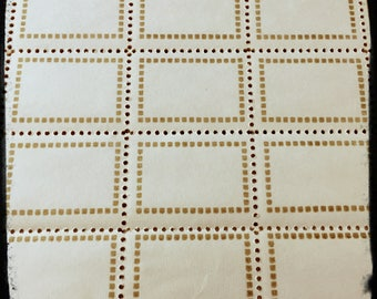 10pcs VINTAGE GUMMED LABELS European Gold Small