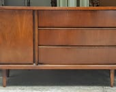 Mid Century Bassett Buffet Credenza Door Drawers Beautiful