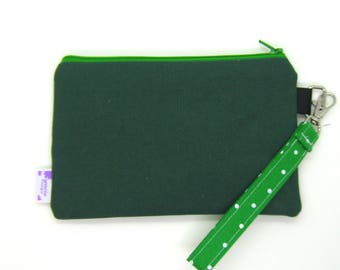 Clearance - Sale - Gift - Gracie Designs Wristlet - all green