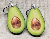 Avocado Earrings / Laser Cut Wood Earrings / Handmade Jewelry / Avocado Jewelry / Food Jewelry / Hypoallergenic / Nickel Free
