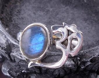 Labradorite sterling silver ohm ring – size 7.75