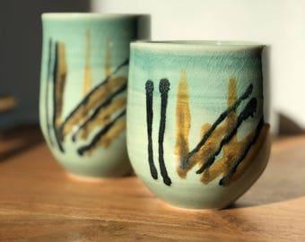 Ceramic tumbler set