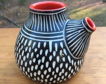 Modern Carved Porcelain Oil Ewer Cruet